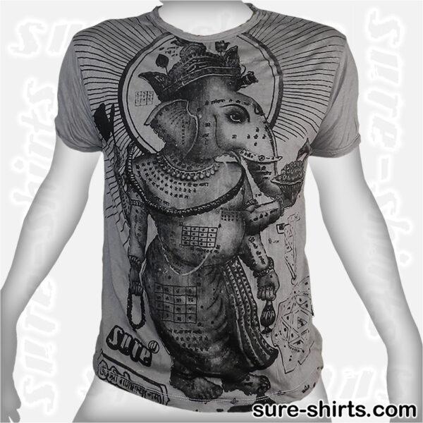 Ganesha Profile - Light Grey Tee size M
