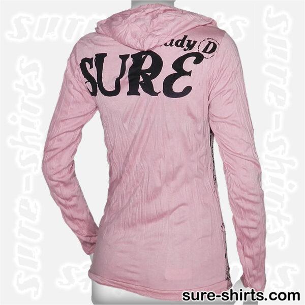 Auspicious Shiva - Light Pink Women Long Sleeve Hoodie Shirt
