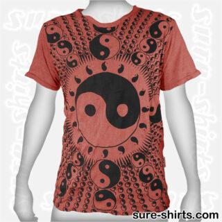 Yin Yang - Brown-Red Tee size M