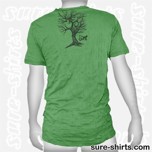Om Tree Sketch - Green Tee size L
