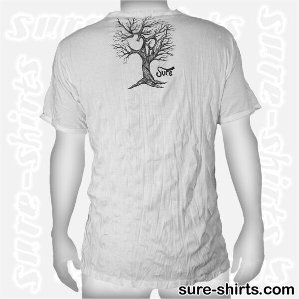 Om Tree Sketch - White Tee size L