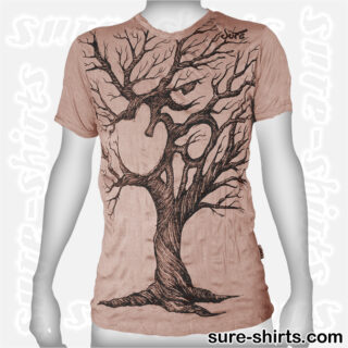 Om Tree Sketch - Beige Tee size M