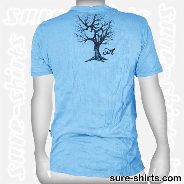 Om Tree Sketch - Light Blue Tee size M