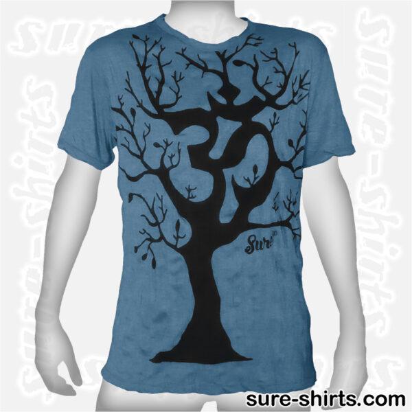 Om Tree - Ocean Blue Tee size L