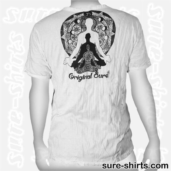 Buddha Trinity - White Tee size M