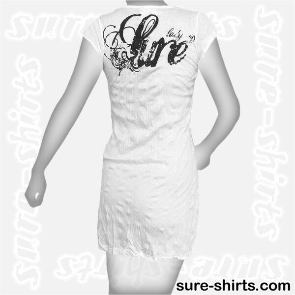 Feather Girl - White Women T Dress / Summer Dress