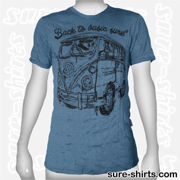 VW Bus - Pale Blue Tee size M