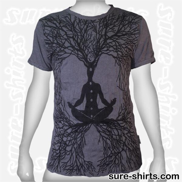 Root Chakra Tree - Grey Tee size M