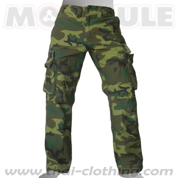 Molecule Combat Military Pants Woodland Camo