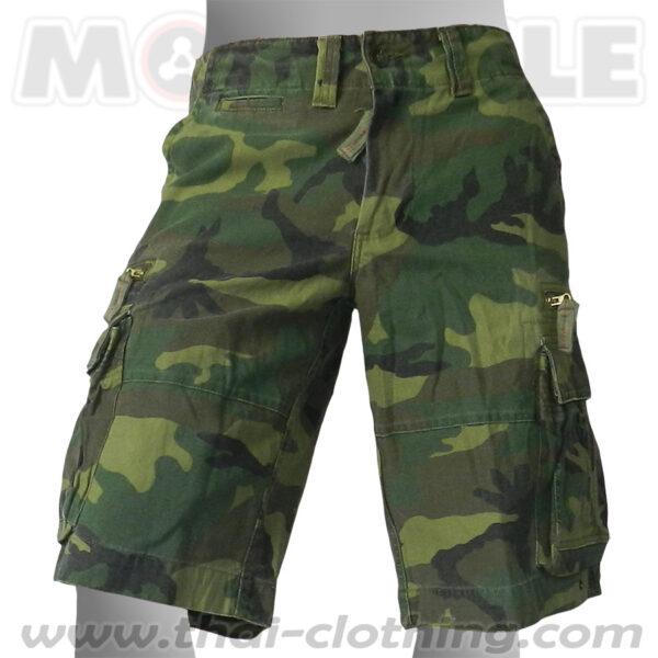 Cruiser Military Shorts Camo Woodland Cargo Pants