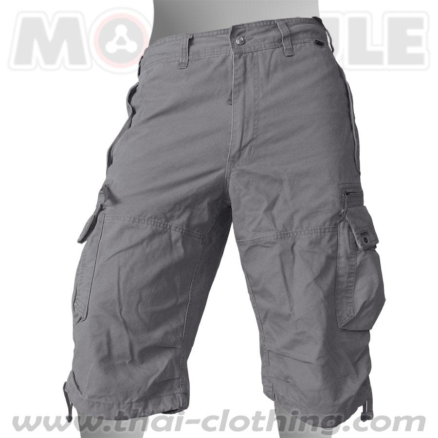 Globetrotter Molecule 3/4 Pants Grey Cargo