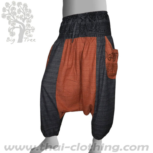 2 Colored Harem Pants Anthracite Earth Brown - BIG TREE