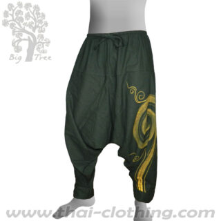 Dark Green Aladdin Pants - BIG TREE Thailand