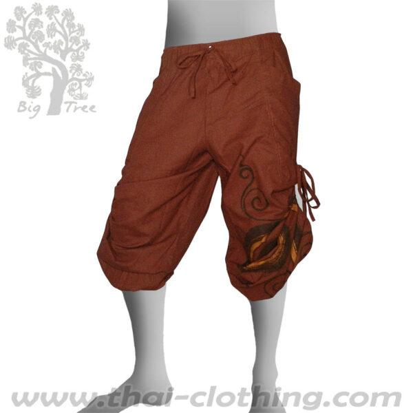 Red-Brown Leg Lace Pants - BIG TREE