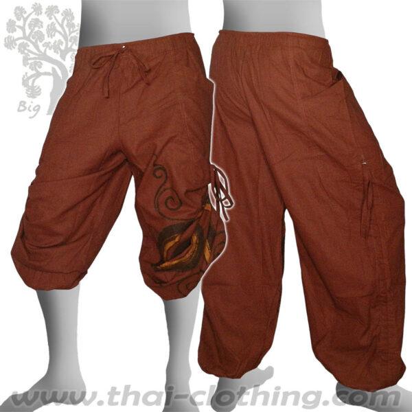 Earth Brown Leg Lace Pants - BIG TREE