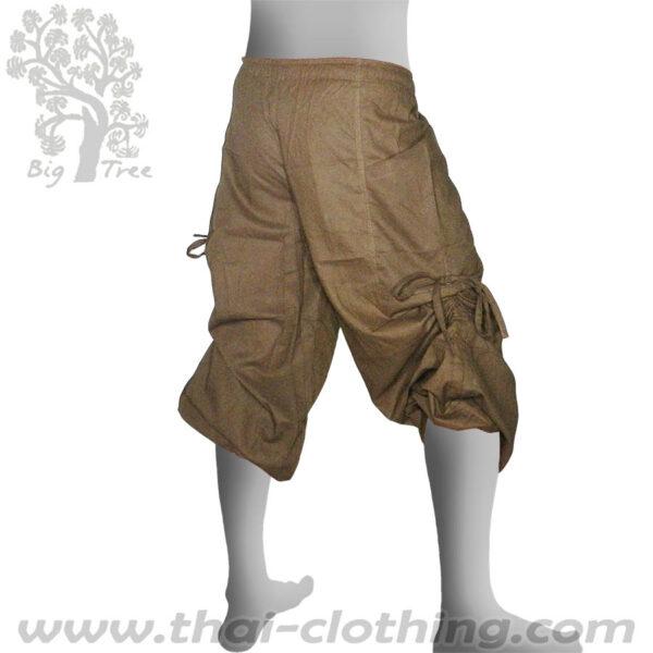 Beige Brown Leg Lace Pants - BIG TREE