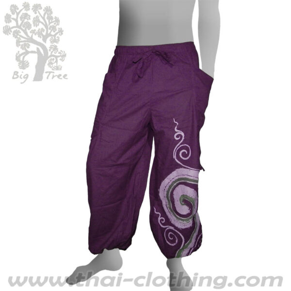 Purple Leg Lace Pants - BIG TREE