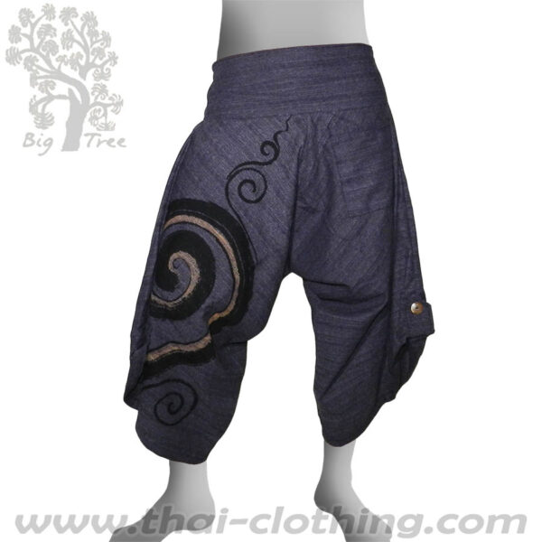 Indigo Grey Samurai Pants - BIG TREE
