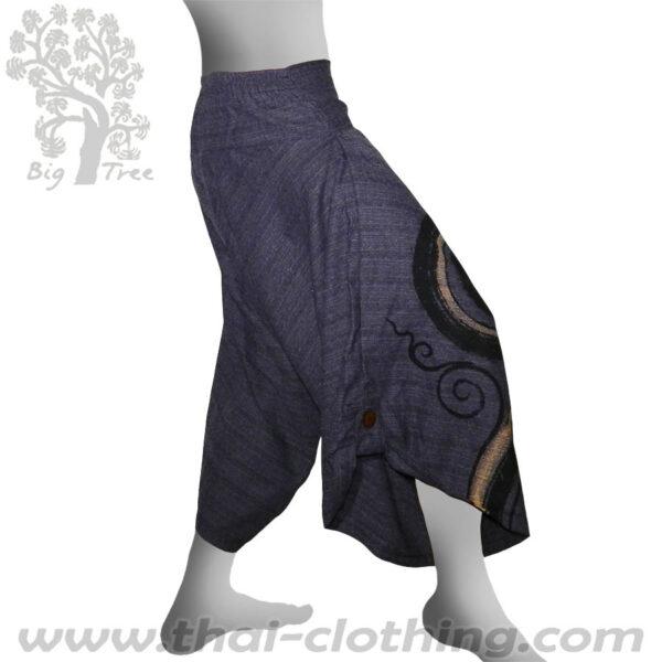 Blue Grey Samurai Pants - BIG TREE