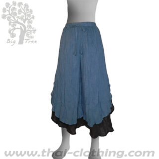 Blue Double Layer Thai Pants - BIG TREE - Women