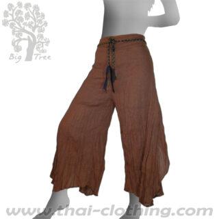 Brown Flared Thai Pants - BIG TREE - Women