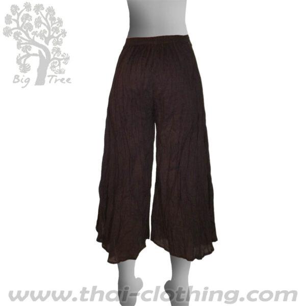 Dark Brown Flared Thai Pants - BIG TREE - Women
