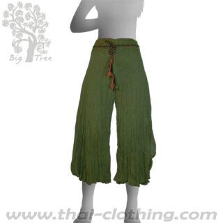 Green Flared Thai Pants - BIG TREE - Women