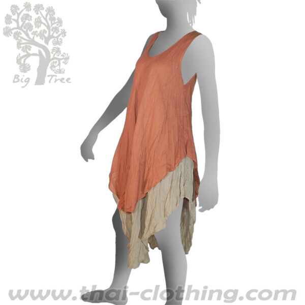Apricot Double Layer Dress Long - BIG TREE - Women
