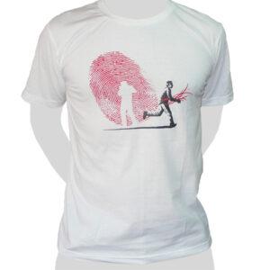 Fingerprint Thief - white ROCKY T Shirt