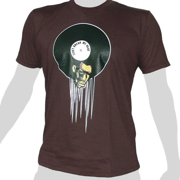 Vinyl Affro - don't break my Beat - brown ROCKY T Shirt