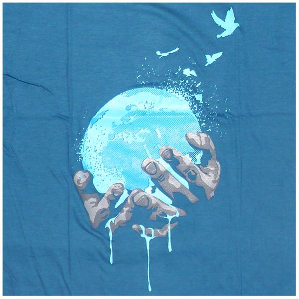 Earth in Hands - dark blue ROCKY T Shirt