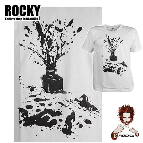Splash Ink Men - white ROCKY T Shirt