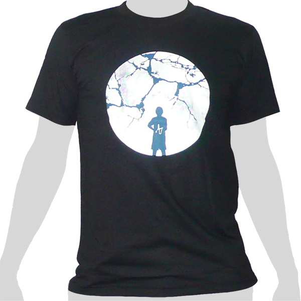 Slingshot Cracked Moon - black ROCKY T Shirt