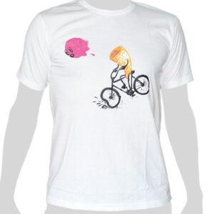 Ice Cream Cone Accident - white ROCKY T Shirt