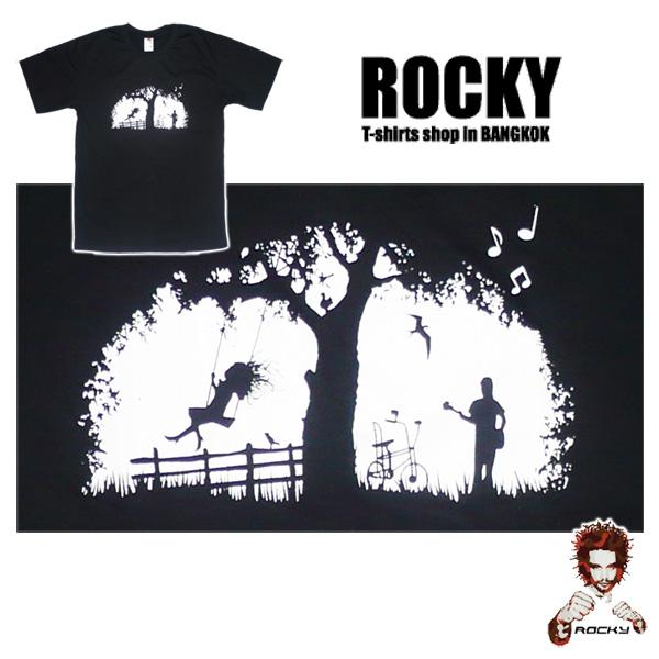 Romantic Eve in the Garden - black ROCKY T Shirt
