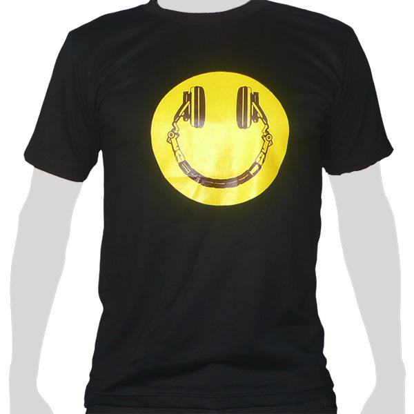 Headphone Smiley - black ROCKY T Shirt