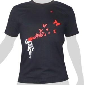 Headshot Butterflies - black ROCKY T Shirt