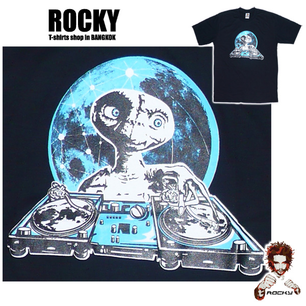Alien DJ E.T. - black ROCKY T Shirt