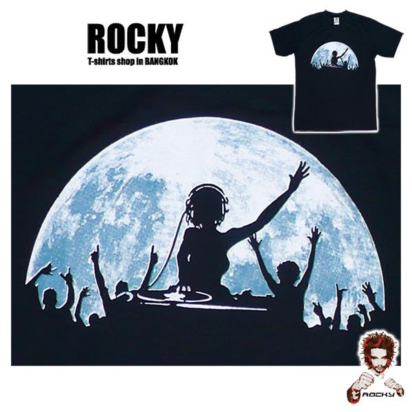 Full Moon Party DJ - black ROCKY T Shirt Thailand