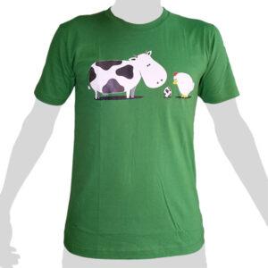 Cow Chicken Egg - green ROCKY T Shirt