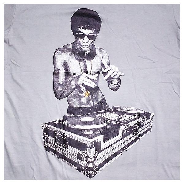 DJ Bruce Lee - light grey ROCKY T Shirt