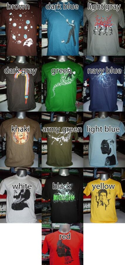 Rocky Shirts - color examples