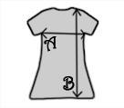 Sure Women summer dress / sundress with short sleeves - Measurements